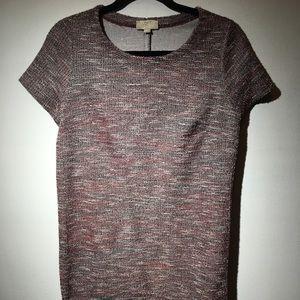 Women's Loft tweed short sleeve dress size LP